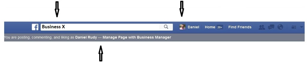 Facebook Business Fan Page Apperance When Posting As You